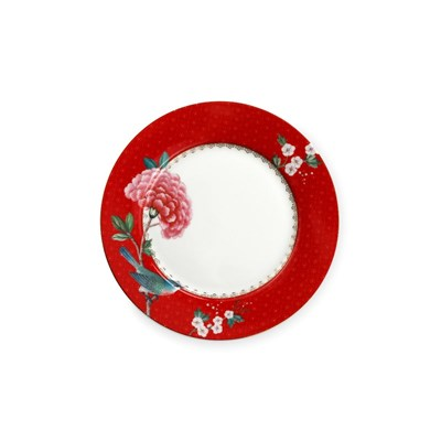 PiP Studio Tallrik Blushing Birds Red 21 cm