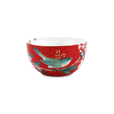 PiP Studio Skål Blushing Birds Red 12 cm
