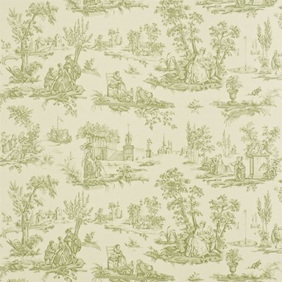 Sanderson Tapet Courting Toile Cream/Sap Green