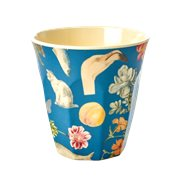 Rice Mugg Art Blue Medium