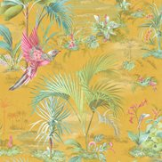 PiP Studio Tapet Palm Scene Yellow