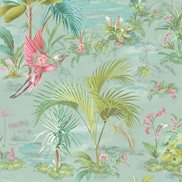 PiP Studio Tapet Palm Scene Blue