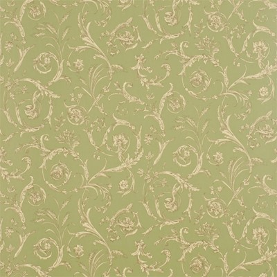 Sanderson Tapet Scroll Coordinate Sage/Chocolate/Beige
