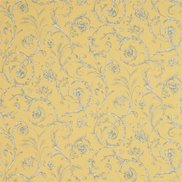 Sanderson Tapet Scroll Coordinate Lemon/Blue/Alabaster