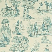 Sanderson Tapet Fox Hunting Stone/Saxe Blue