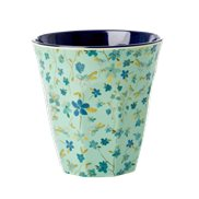 Rice Mugg Floral Blue Medium