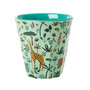 Rice Mugg Jungle Animals  Green Medium
