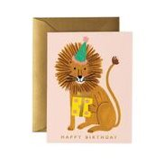 Rifle paper co Kort Lion Birthday