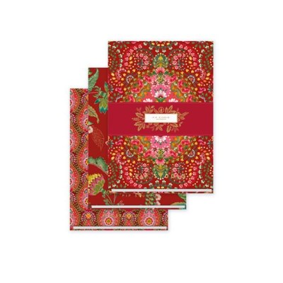 PiP Studio Anteckningsblock Moon Delight Red 3 st