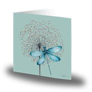 Cards by Jojo Kort Blue Dragonfly