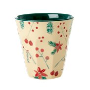 Rice Mugg Poinsettia Christmas Medium