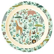 Rice Tallrik Djungle Animals Green