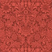 William Morris & Co Tapet Sunflower Chocolate/Red