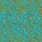 William Morris & Co Tapet Willow Bough Olive/Turquoise