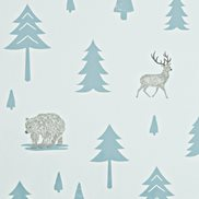 Hibou Home Tapet Into The Wild Grey/Storm Green