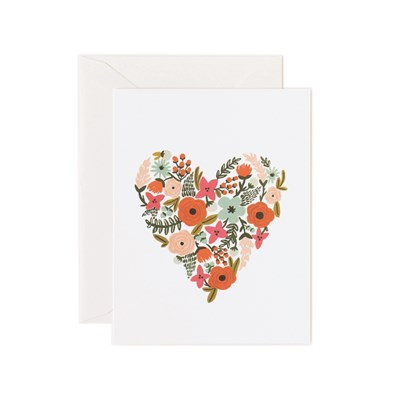 Rifle paper co Kort Floral Heart