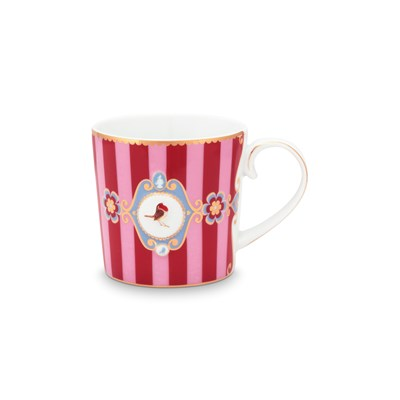 PiP Studio Mugg Love Birds Medallion Stripes Small