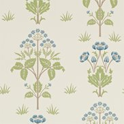 William Morris & Co Tapet Meadow Sweet Cornflower/Leaf