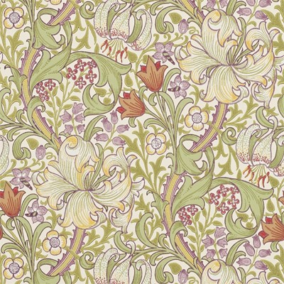 William Morris & Co Tapet Golden Lily Olive/Russet