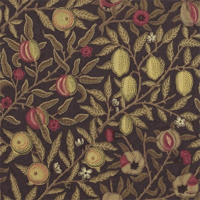 William Morris & Co Tapet Fruit W/P Wine/Manilla