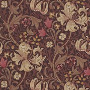 William Morris & Co Tapet Golden Lily Fig/Burnt Orange