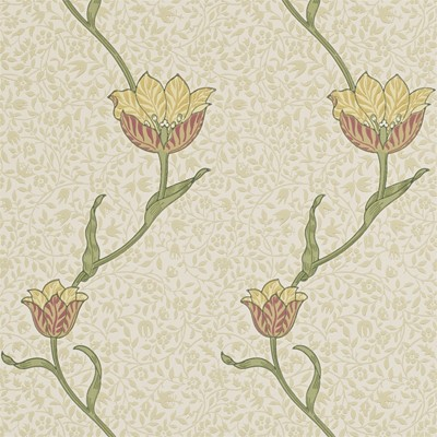William Morris & Co Tapet Garden Tulip Russet/Lichen