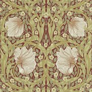 William Morris & Co Tapet Pimpernel Brick/Olive