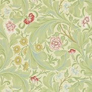 William Morris & Co Tapet Leicester Green/Coral