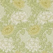 William Morris & Co Tapet Chrysanthemum Pale Olive