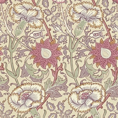 William Morris & Co Tapet Pink & Rose Manilla/Wine