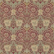William Morris & Co Tapet Honeysuckle & Tulip Red/Gold