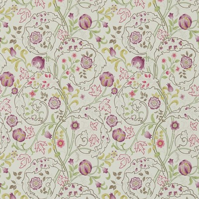William Morris & Co Tapet Mary Isobel Wine/Linen