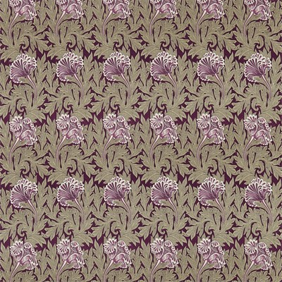 William Morris & Co Tyg Tulip Heather/Olive