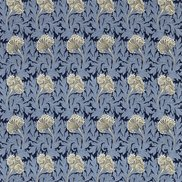 William Morris & Co Tyg Tulip Indigo/Linen