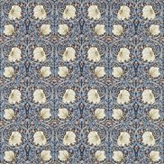 William Morris & Co Tyg Pimpernel Indigo/Hemp