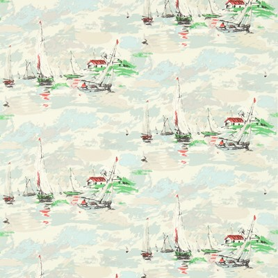 Sanderson Tyg Sail Away Sea Green