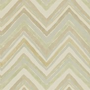 Sanderson Tapet Zigzag Silver/Natural