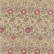 William Morris & Co Tyg Pink & Rose Manilla/Wine