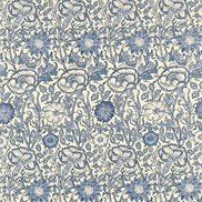 William Morris & Co Tyg Pink & Rose Vellum/Indigo