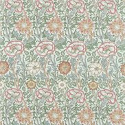 William Morris & Co Tyg Pink & Rose Eggshell/Rose