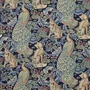 William Morris & Co Tyg Forest Indigo
