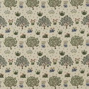 William Morris & Co Tyg Orchard Forest/Indigo