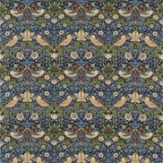 William Morris & Co Tyg Strawberry Thief Indigo/Mineral