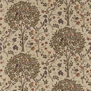 William Morris & Co Tyg Kelmscott Tree Mulberry/Russet