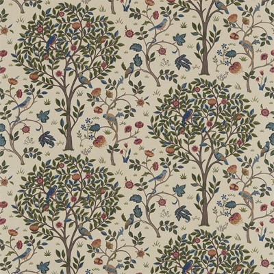 William Morris & Co Tyg Kelmscott Tree Woad/Wine
