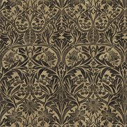 William Morris & Co Tyg Bluebell Black/Manilla