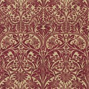 William Morris & Co Tyg Bluebell Claret/Gold