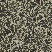 William Morris & Co Tapet Thistle Black/Linen