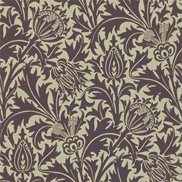 William Morris & Co Tapet Thistle Mulberry/Linen