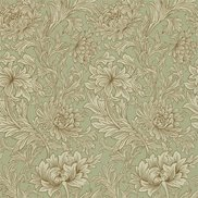 William Morris & Co Tapet Chrysanthemum Toile Eggshell/Gold